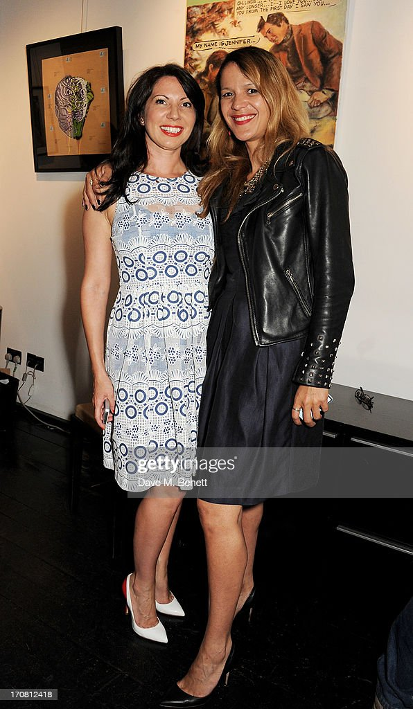 Chloe Franses (L) and Lisa Moorish attends the Diversity In Care charity auction at Opera Gallery on June 18, 2013 in London, England.