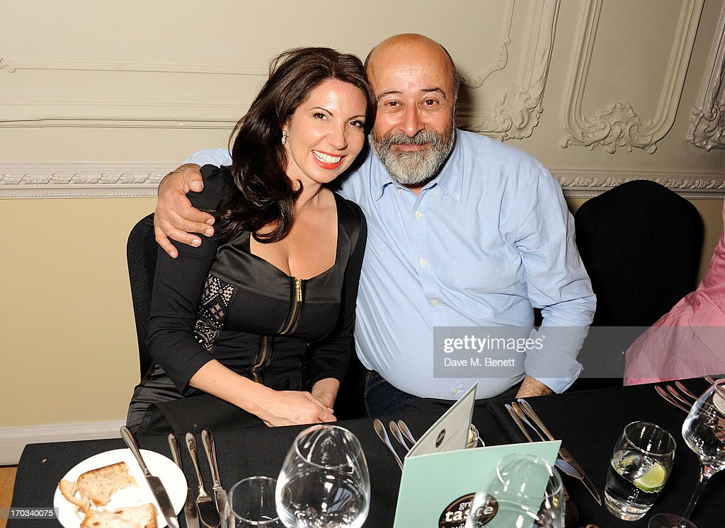 Chloe Franses (L) and Richard Young attend a private dinner previewing the new 'Alex James Presents' Blue Monday cheese at The Cadogan Hotel on June 11, 2013 in London, England.