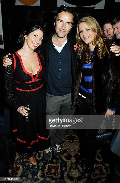 Chloe Franses Ben Chaplin and Lisa Moorish attend the launch of the House of St Barnabas private members club at The House of St Barnabas on November...