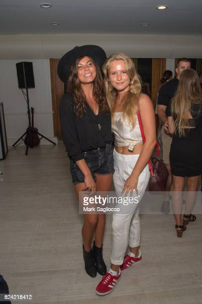 Chloe Gifkins and Sailor Brinkley Cook attend the Hamptons Magazine Influencer Issue Celebration at The Montauk Yacht Club on July 28 2017 in Montauk...