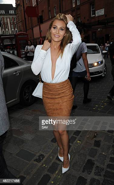 Chloe Goodman arrives at The Ego Professional Macmillan Cancer Party on July 28 2015 in London England