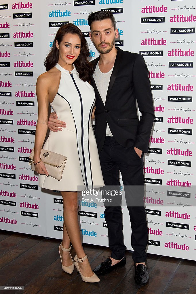 <a gi-track='captionPersonalityLinkClicked' href=/galleries/search?phrase=Chloe+Goodman&family=editorial&specificpeople=12944518 ng-click='$event.stopPropagation()'>Chloe Goodman</a> (L) attends the Attitude Magazine Hot 100 party at Paramount Club on July 16, 2014 in London, England.