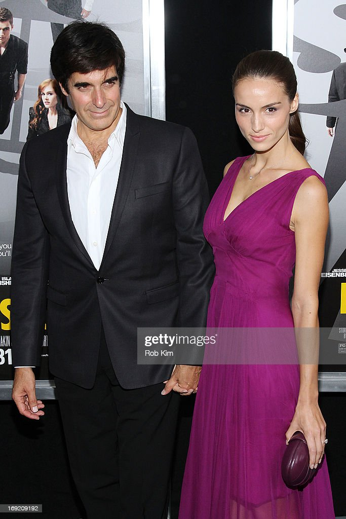 Chloe Gosselin and <a gi-track='captionPersonalityLinkClicked' href=/galleries/search?phrase=David+Copperfield+-+Illusionist&family=editorial&specificpeople=11713603 ng-click='$event.stopPropagation()'>David Copperfield</a> attend the 'Now You See Me' New York Premiere at AMC Lincoln Square Theater on May 21, 2013 in New York City.