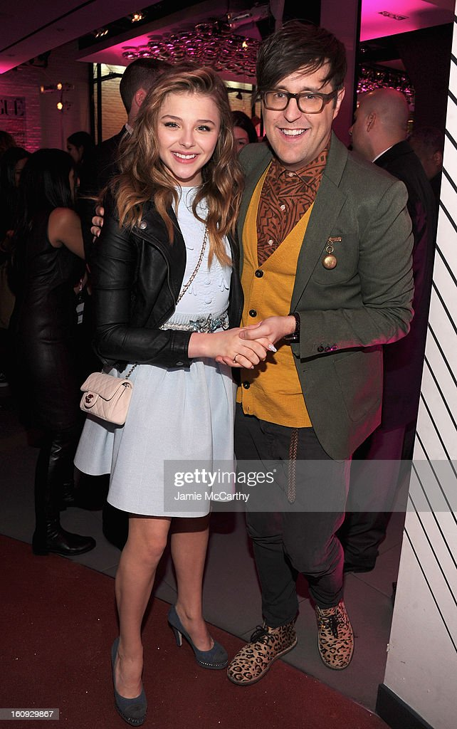 Chloe Grace Moretz and Teen Vogues Andrew Bevan attend the 10th Anniversary of Teen Vogue and Aeropostale's Celebration of Chloe Grace Moretz's Sweet 16 at Aeropostale Times Square on February 7, 2013 in New York City.
