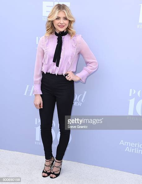 Chloe Grace Moretz arrives at the The Hollywood Reporter's Annual Women In Entertainment Breakfast at Milk Studios on December 9 2015 in Los Angeles...