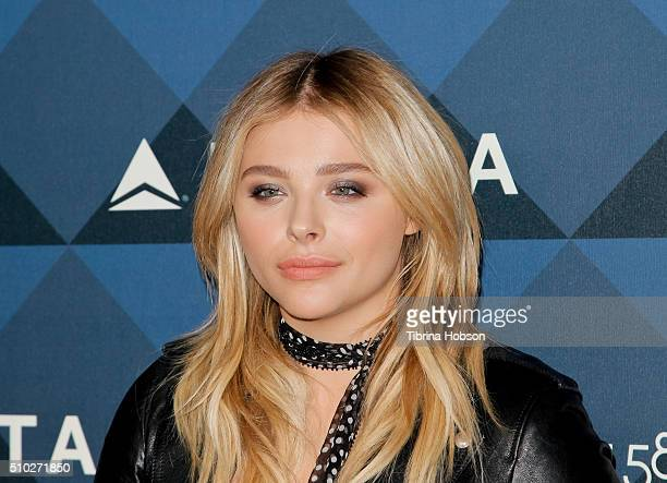 Chloe Grace Moretz attends Delta Air Lines 2016 GRAMMY Celebration at NeueHouse Los Angeles on February 12 2016 in Hollywood California