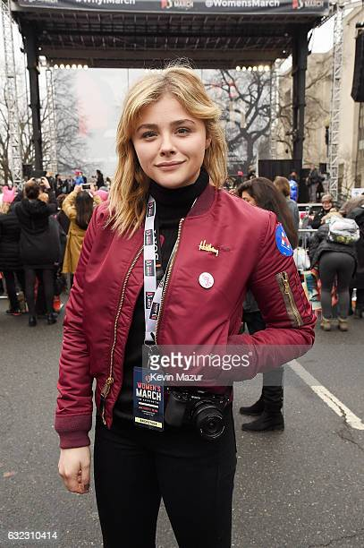 Chloe Grace Moretz attends the rally at the Women's March on Washington on January 21 2017 in Washington DC