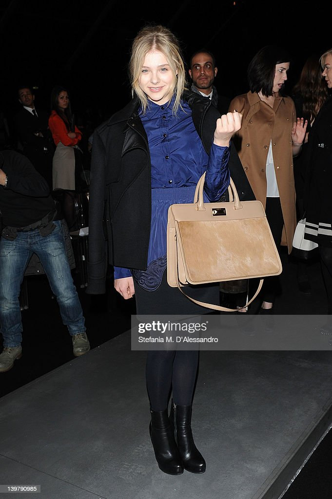 Chloe Grace Moretz attends the runway at the Sportmax Autumn/Winter 2012/2013 fashion show as part of Milan Womenswear Fashion Week on February 25, 2012 in Milan, Italy.
