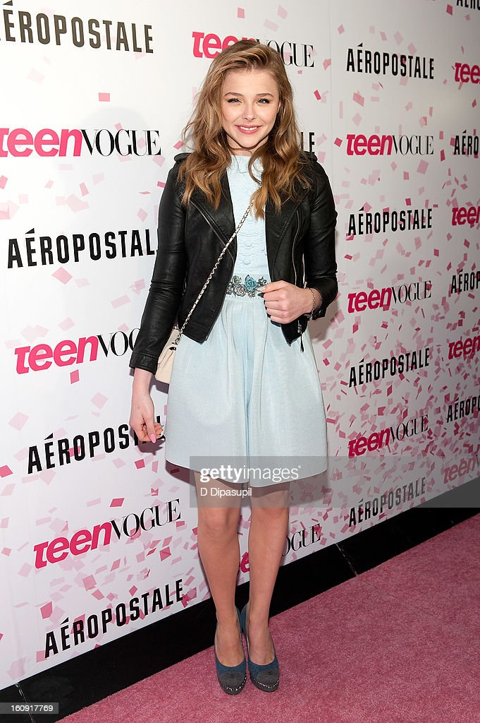 Chloe Grace Moretz attends the Teen Vogue 10th Anniversary and Chloe Grace Moretz Sweet 16 Celebration at Aeropostale Times Square on February 7, 2013 in New York City.