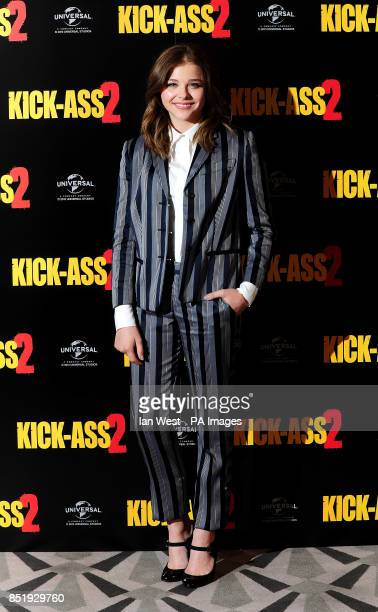 Chloe Grace Moretz during a photocall for the film Kick Ass 2 at Claridges Hotel in London