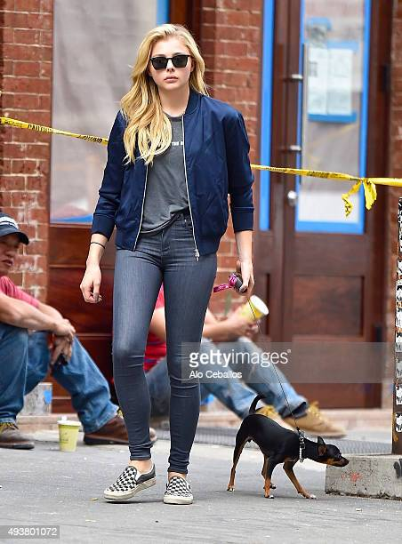 Chloe Grace Moretz is seen in Soho on October 22 2015 in New York City