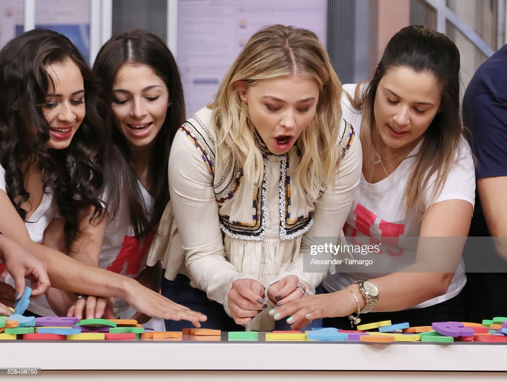 Chloe Grace Moretz is seen on the set of 'Despierta America' to promote the film 'Neighbors 2 Sorority Rising' at Univision Studios on May 5, 2016 in Miami, Florida.