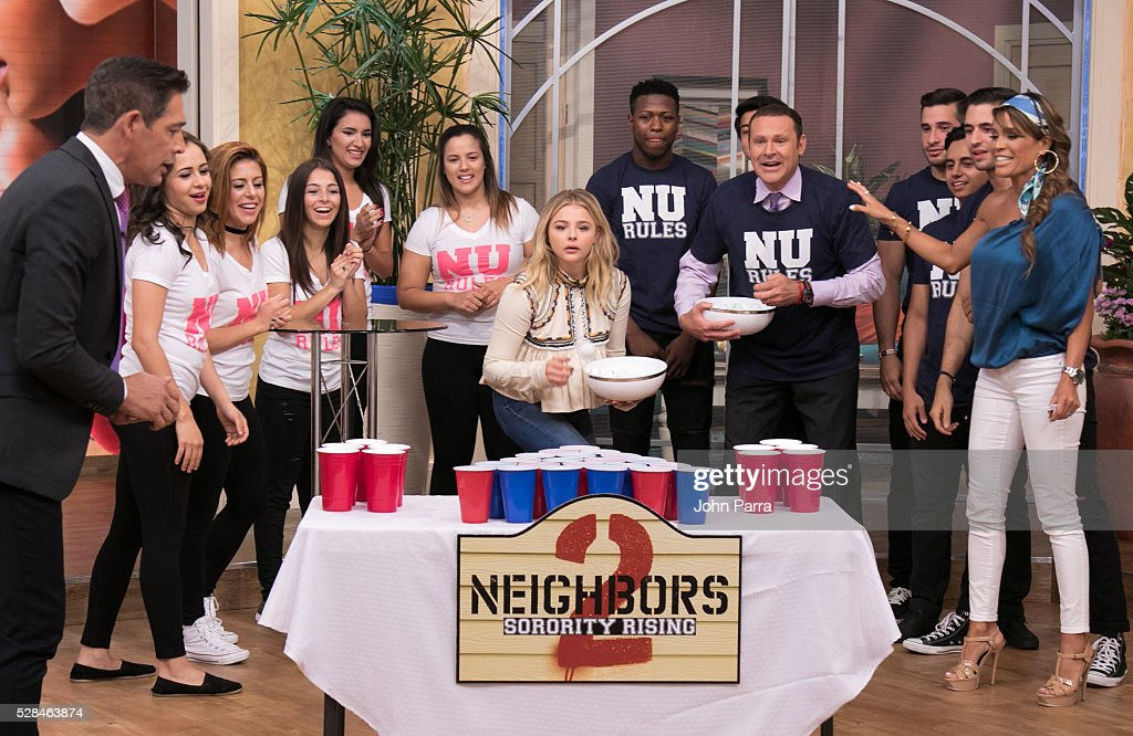 Chloe Grace Moretz is seen on the set of Univision's 'Despierta America' to promote the film 'Neighbors 2: Sorority Rising' at Univision Studios on May 5, 2016 in Miami, Florida.