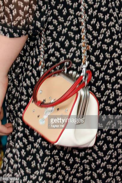 Chloe Grace Moretz purse detail attends the 2017 CFDA Fashion Awards at Hammerstein Ballroom on June 5 2017 in New York City