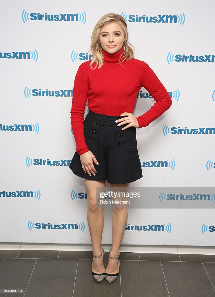 Chloe Grace Moretz visits at SiriusXM Studios on January 5, 2016 in New York City.