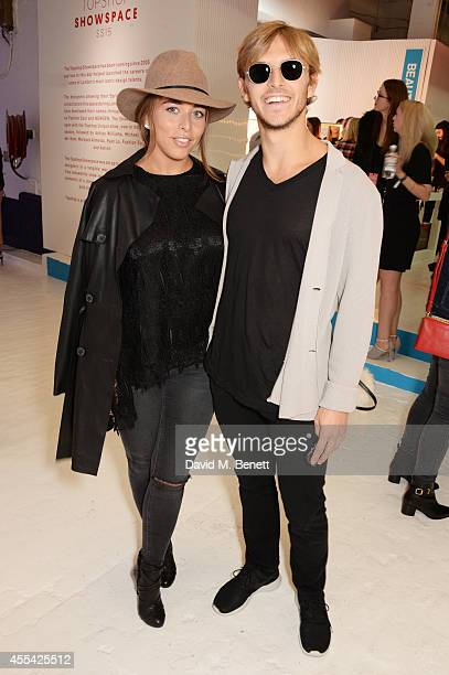 Chloe Green and Brandon Green attends the Topshop Unique SS15 Front Row on September 14 2014 in London England