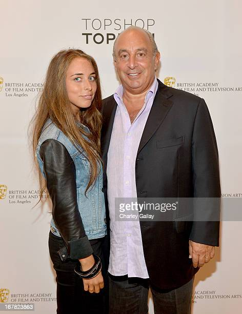 Chloe Green and Proprietor Sir Philip Green attends BAFTA Los Angeles and Sir Philip Green Celebrate the British New Wave at Topshop Topman at The...