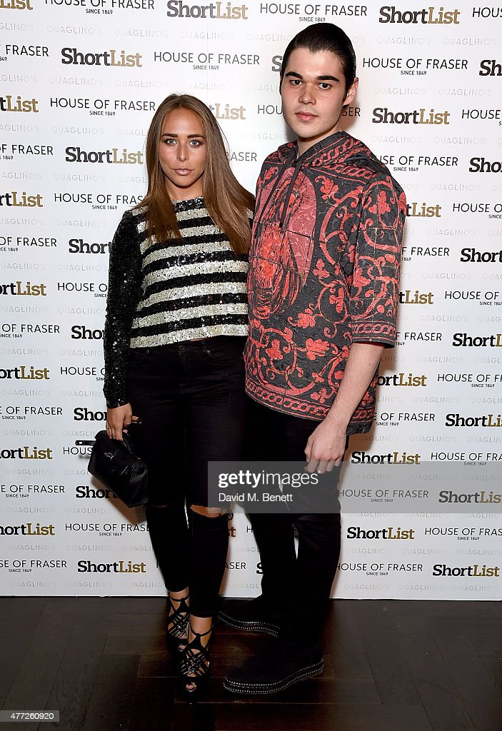 Chloe Green and Robert Cavalli attend the ShortList and House of Fraser London Collections Men closing night party 2015 at Quaglino's on June 15 2015...