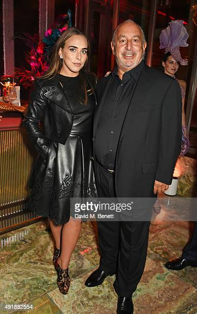 Chloe Green and Sir Philip Green attend the launch of Sexy Fish London in Berkeley Square on October 8 2015 in London England