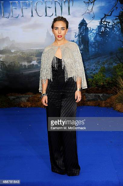 Chloe Green attends a private reception as costumes and props from Disney's 'Maleficent' are exhibited in support of Great Ormond Street Hospital at...