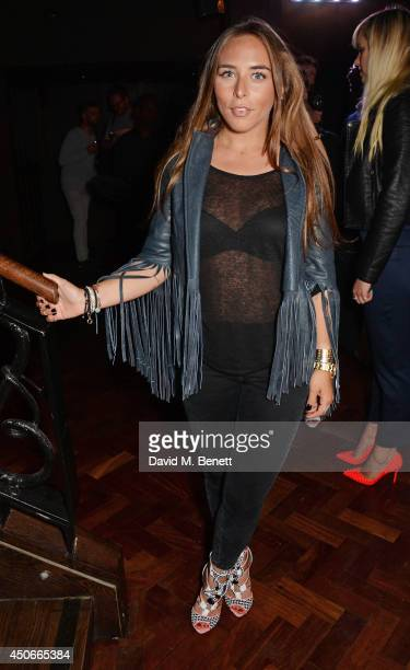 Chloe Green attends the Esquire DKNY MEN official opening night party for London Collections Men at one Embankment on June 15 2014 in London England