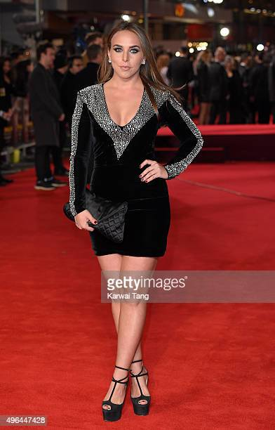Chloe Green attends the World Premiere of 'Ronaldo' at Vue West End on November 9 2015 in London England