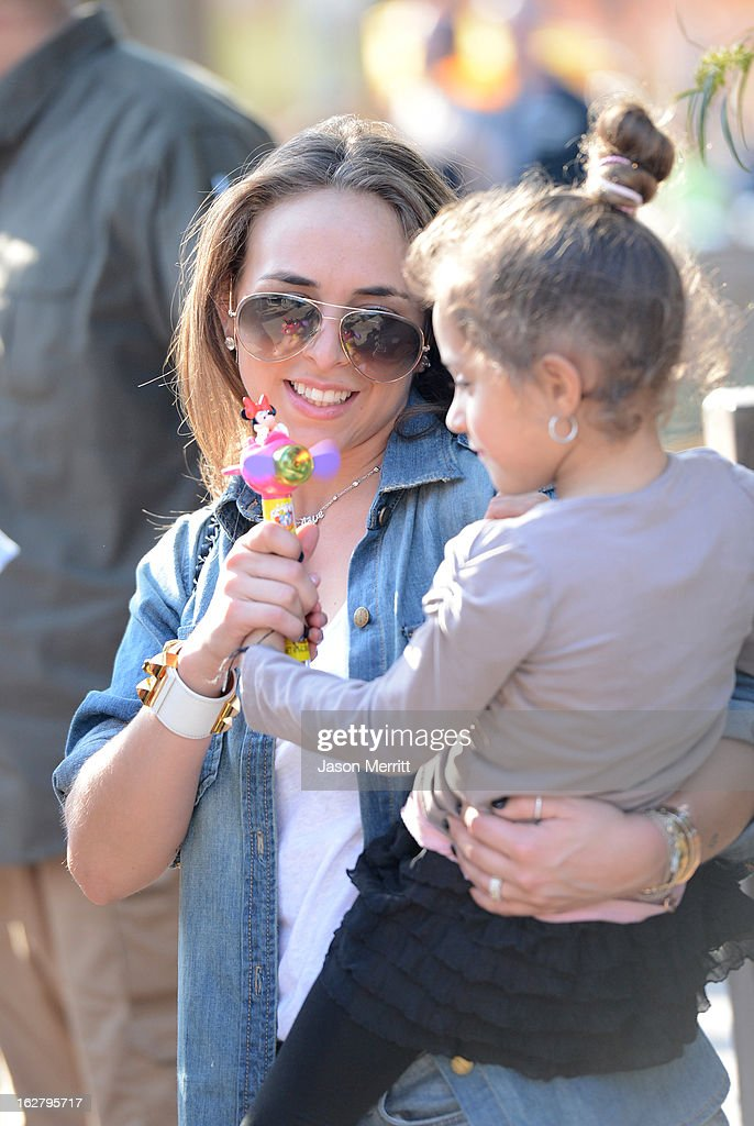 Chloe Green, Mark Anthony's new girlfriend, sighting with Marc Anthony and his twins Max and Emme (not pictured) at Disneyland February 26, 2013 in Anaheim, California.