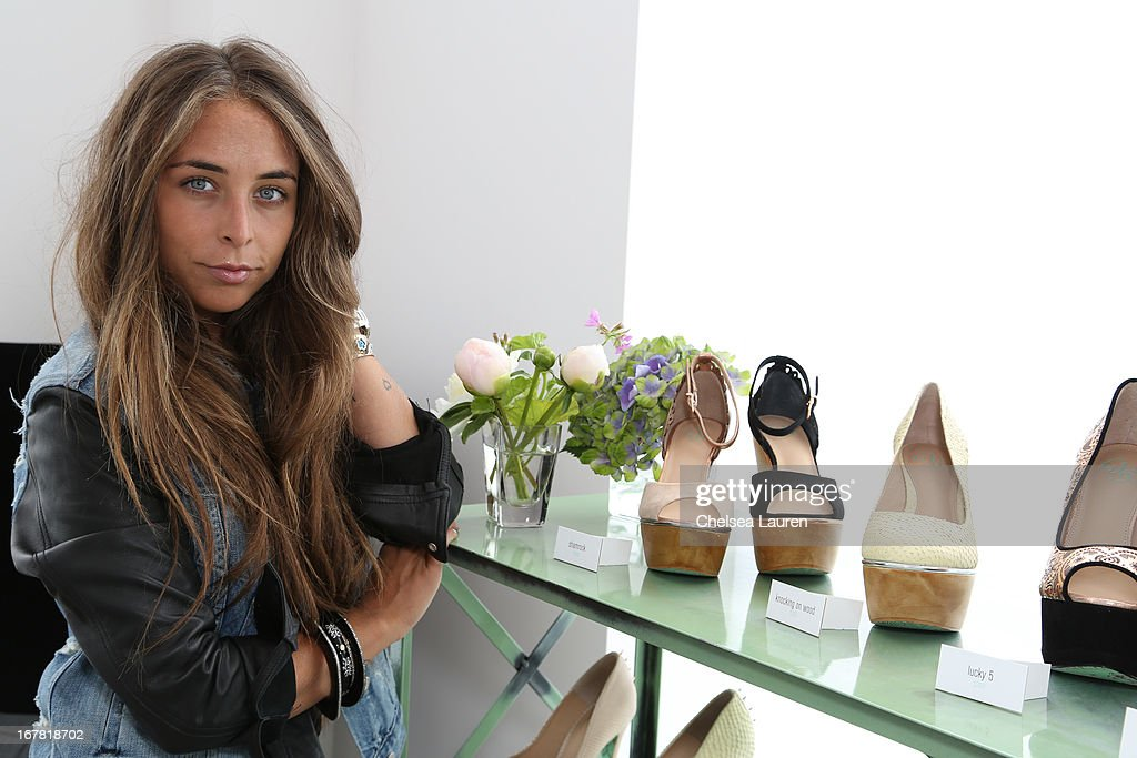Chloe Green previews the CJG Collection at Topshop/Topman at at The Grove on April 30, 2013 in Los Angeles, California.