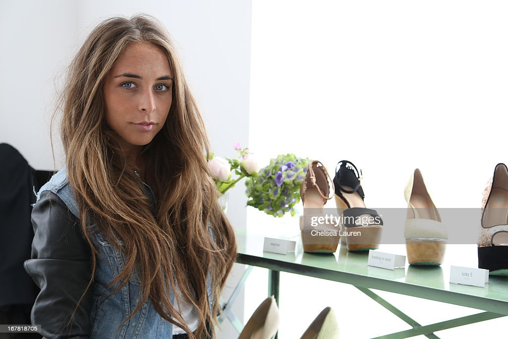 <a gi-track='captionPersonalityLinkClicked' href=/galleries/search?phrase=Chloe+Green&family=editorial&specificpeople=4271114 ng-click='$event.stopPropagation()'>Chloe Green</a> previews the CJG Collection at Topshop/Topman at at The Grove on April 30, 2013 in Los Angeles, California.