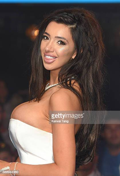 Chloe Khan is the third housemate evicted from Celebrity Big Brother 2016 at Elstree Studios on August 12 2016 in Borehamwood England