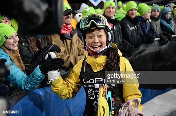 Chloe Kim at the young age of 13 wins silver during the Women's Snowboard SuperPipe Finals at the Winter X Games in Aspen January 25 2014 The X Games...