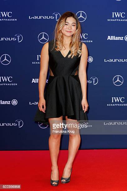 Chloe Kim attends the Laureus World Sports Awards 2016 at the Messe Berlin on April 18 2016 in Berlin Germany