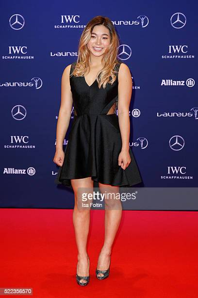 Chloe Kim of the USA nominee for Laureus World Sportsperson of the Year with a Disability attends the Laureus World Sports Awards 2016 on April 18...