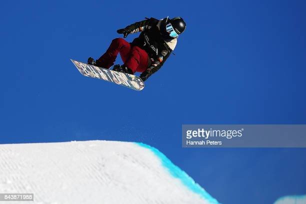 Chloe Kim of USA competes during the Winter Games NZ FIS Women's Snowboard World Cup Halfpipe Finals at Cardrona Alpine Resort on September 8 2017 in...