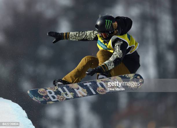 Chloe Kim of USA competes in the FIS Freestyle World Cup Snowboard Halfpipe Qualification at Bokwang Snow Park on February 17 2017 in Pyeongchanggun...