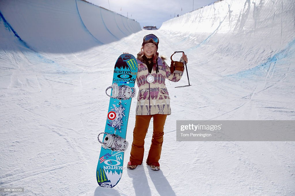 <a gi-track='captionPersonalityLinkClicked' href=/galleries/search?phrase=Chloe+Kim&family=editorial&specificpeople=12118683 ng-click='$event.stopPropagation()'>Chloe Kim</a> poses for a photo after a first place finish in the ladies' FIS Snowboard World Cup at the 2016 U.S Snowboarding Park City Grand Prix on February 6, 2016 in Park City, Utah.