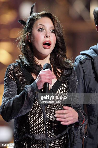 STUDIO CITY CA APRIL 24 Chloe Lattanzi daughter of Olivia NewtonJohn during the live taping of 'Rock the Cradle' on April 24 2008 at CBS Studio...