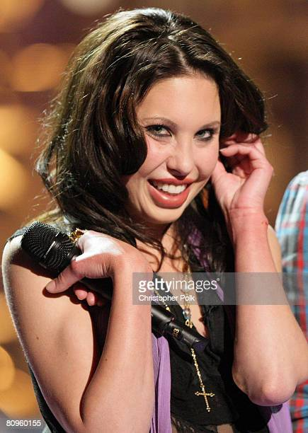 STUDIO CITY CA MAY 01 Chloe Lattanzi daughter of Olivia NewtonJohn during the live taping of 'Rock the Cradle' on May 1 2008 at CBS Studio Center in...