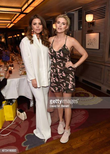 Chloe Lewis and Ashley James attend the VIP dinner to celebrate Urban Decay's arrival at Selfridges London on April 24 2017 in London England