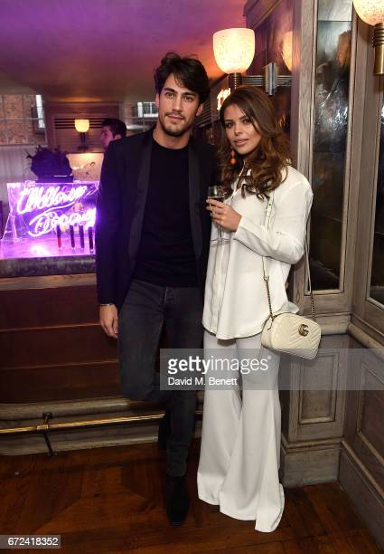 Chloe Lewis and Danny Flasher attends the VIP dinner to celebrate Urban Decay's arrival at Selfridges London on April 24 2017 in London England