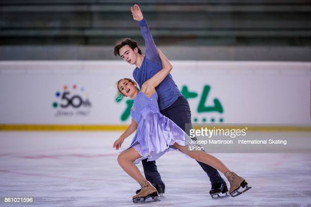 Chloe Lewis and Logan Bye of the United States compete in the Junior Ice Dance Free Dance during day two of the ISU Junior Grand Prix of Figure...