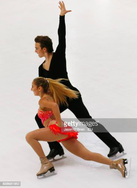 Chloe Lewis and Logan Bye of USA perform during the ISU Junior Grand Prix of Figure Skating at on August 25 2017 in Brisbane Australia