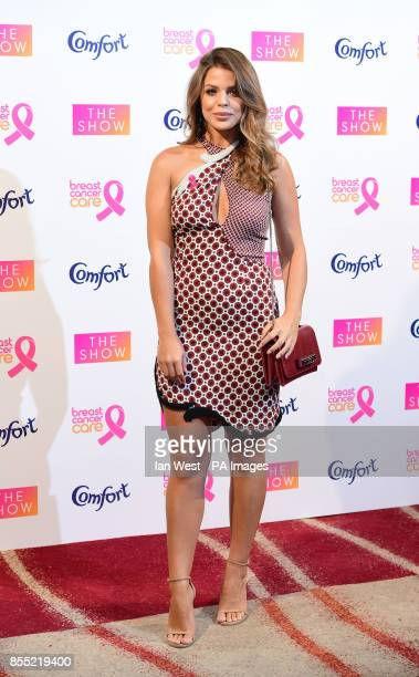 Chloe Lewis arrives at Breast Cancer CareOtildes annual fashion show fundraiser at the Park Plaza Westminster Bridge in London