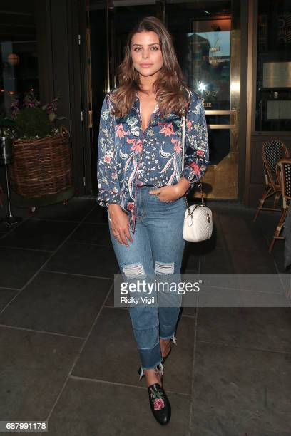 Chloe Lewis attends Dr Richard Marques launch party at The Ivy Soho Brasserie on May 24 2017 in London England