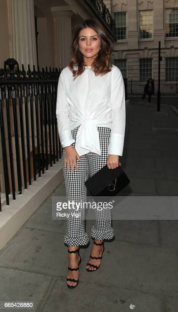 Chloe Lewis attends New Look pool party at The Haymarket Hotel on April 6 2017 in London England