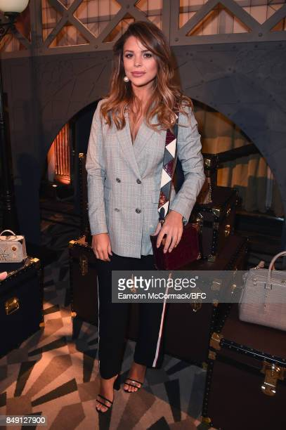 Chloe Lewis attends the Aspinal of London presentation during London Fashion Week September 2017 on September 18 2017 in London England