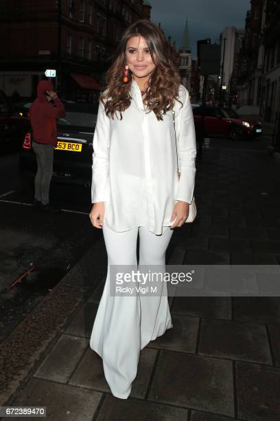 Chloe Lewis attends Urban Decay VIP dinner at 34 restaurant in Mayfair on April 24 2017 in London England