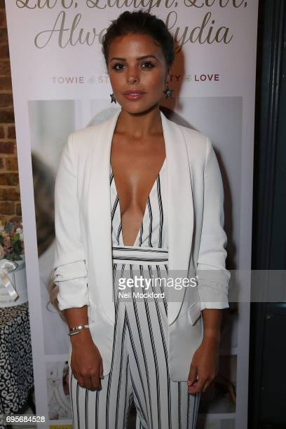 Chloe Lewis joins Lydia Rose Bright as she celebrates the release of her new book' Live Laugh Love Always Lydia' at The Dead Dolls House in Islington...