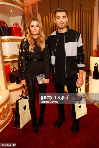 Chloe Lloyd and Josh Cuthbert attend the Aspinal of London Press Day on February 20 2017 in London England