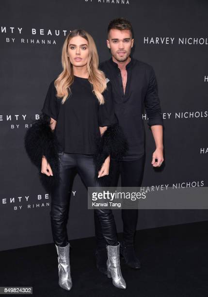 Chloe Lloyd and Josh Cuthbert attend the 'FENTY Beauty' by Rihanna launch Party at Harvey Nichols Knightsbridge on September 19 2017 in London England